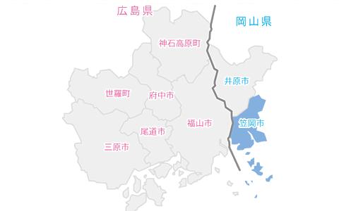 笠岡市イラストマップ
