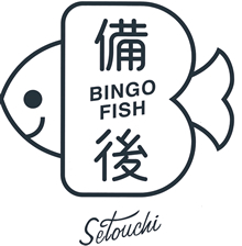 「備後フィッシュ」のロゴ・キャッチコピーと「備後の地魚応援団」発足の記者会見の様子